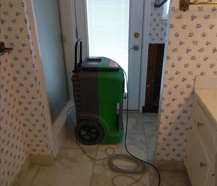 Water damage in bathroom After