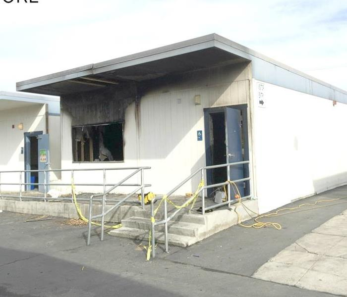 Clean Up of Local School Arson Fire Before