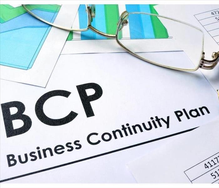 Paper with words BCP Business Continuity Plan